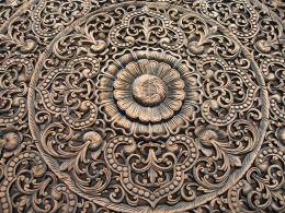 6Ft Thai Floral Teakwood Panel 651