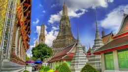 temple in bankok thailand hdr wallpaper 1636