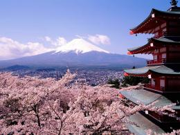 Amazing Picture of Mount Fiji in Spring – Honshu Island, Japan 668