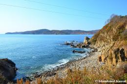 Border Viewing Point, Wonjong, Yanji » Changjin Bay Rocky Beach 585