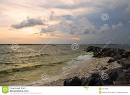 Sunset On The Rocky Beach Royalty Free Stock PhotosImage: 10778188 1521