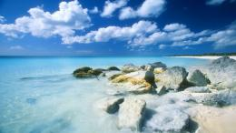 The rocky beach and the blue sea wallpapers and imageswallpapers 1800