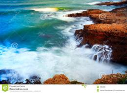 Waves Breaking On The Rocks Stock PhotographyImage: 6392232 1929