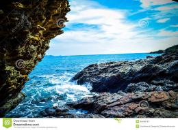 Waves Breaking On The Rocks Stock PhotoImage: 49440167 175