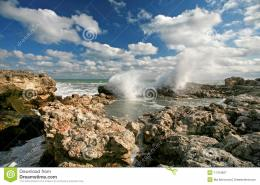 Waves Breaking On Rocks In Sea Royalty Free Stock PhotographyImage 160
