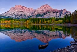 at Wedge Pond in Kananaskis, Alberta in the Canadian Rocky Mountains 1114