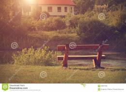 Bench In Autumn Park Stock PhotoImage: 59097459 1414