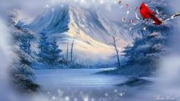 winter cardinal landscape wallpaper tags snow landscape river winter 601