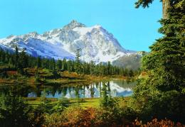 Wonderful mountain white reflection nature wallpaper 101