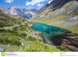 Wonderful mountain lake, Tien Shan mountains, Kyrgyzstan 310
