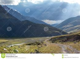Wonderful landscape of mountain road in Kyrgyzstan 1395