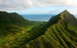 Hawaii Mountains Wonderful View Wallpaper 672
