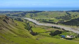 From Te Mata Peak, we could see the Tukituki River, and beyond the 201