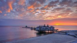 Amazing Ocean Pier At SunsetHD Wallpaper, get it now! 1725