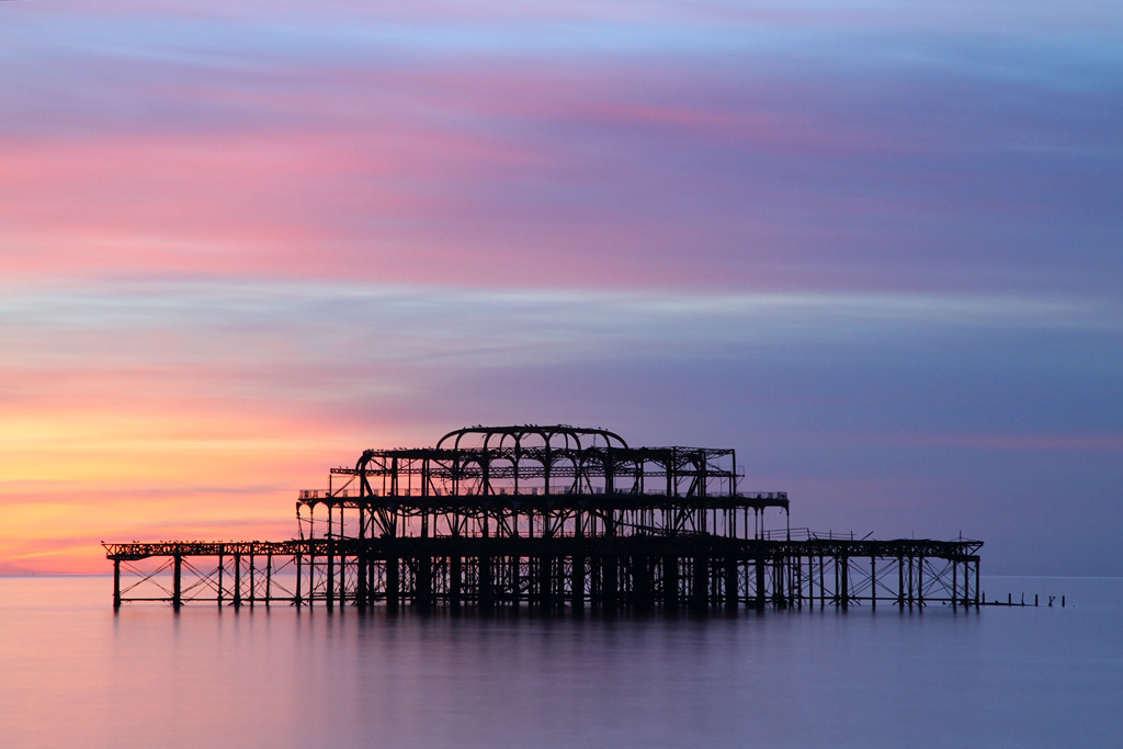 Brighton Old West Pier at Sunset, East Sussex | FlickrPhoto Sharing 132
