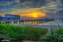 Amazing sunrise at the Lake Worth Pier along the beach in Palm Beach 253