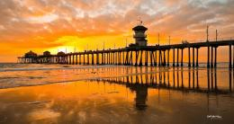 PanoramioPhoto of Sunset Over Huntington Beach Pier 718