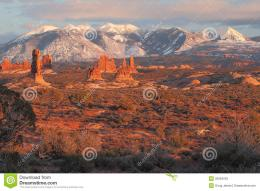 sand dunes with the La Sal Mountains in the background in Arches 824