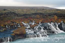 Hraunfossar, Waterfalls Formed, Beautiful Places, Hraunfossar 245