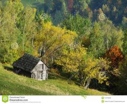Autumn Hills With Old House Stock PhotographyImage: 13440282 1974