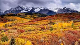 Autumn hills and snowy mountains | Widescreen and Full HD Wallpapers 1373