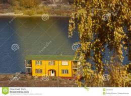 Boat Station On The Autumn River Stock PhotosImage: 13642013 536