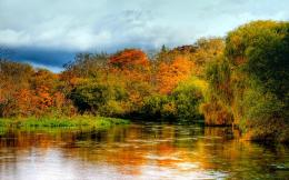 Autumn river england hampshire itchen wallpaper 188