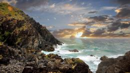 Awesome byron bay australia birds shore sea wallpaper 570
