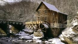 Glade Creek Grist Mill wallpaper 101041 1965