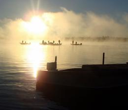 Balsam Lake fishing tournament at sunrise 1077
