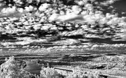 Download Beautiful black and white landscape wallpaper in Nature 945