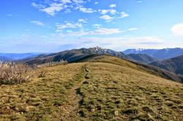 Walking on top of the Razorback Ridge towards Mt Feathertop 177