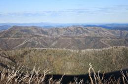 Scenery of Victorian Alps from the Razorback Trail 193