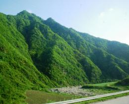Beautiful mountain landscape in North Korea's mountainous centre 1093
