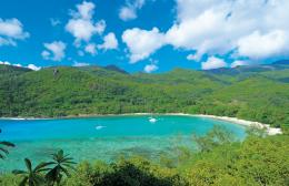 beautiful beaches of the Seychelles' largest island, home to the 1677