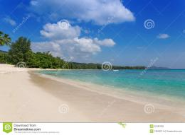 Sandy Beach On Mahe Island, Seychelles Royalty Free Stock Photos 858