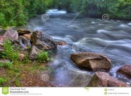 Beautiful landscape of a River rapids in High Dynamic Range 928