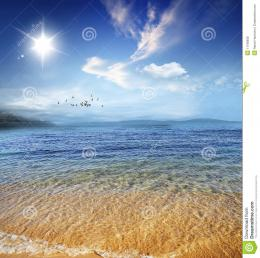 Beautiful Seashore With Calm Crystal Clear Water Royalty Free Stock 1523