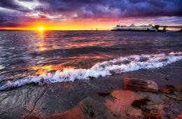 Beautiful Beach Sunset in Edmonds WashingtonTravel Photo Adventures 854