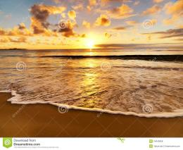 Beautiful Sunset On The Beach Royalty Free Stock PhotosImage 1054
