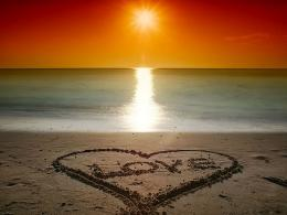 Beach Love Sunsetthe sand love sunset at beachBeach Love Sunset 1028