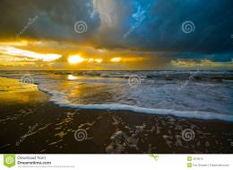Beautiful Sunset On The Beach Stock PhotoImage: 2912610 1115