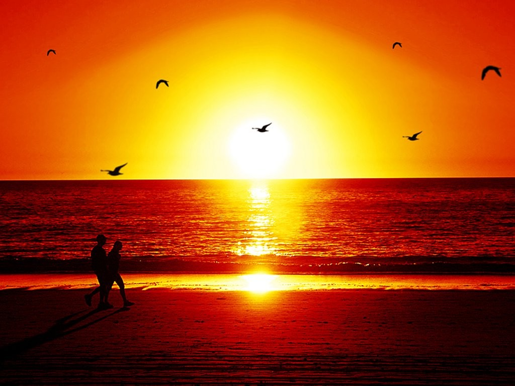 beautiful sunset beach photo - photo #13