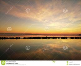 Beautiful sunset over the lake BalatonHungary 1345
