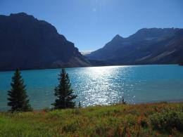 PanoramioPhoto of Sunset over beautiful Bow Lake Summer Fall 2013 101