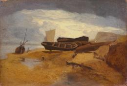 John Sell Cotman 'Seashore with Boats', c 1808 1225