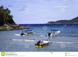 Three Speed Boats At Seashore Royalty Free Stock PhotosImage 555