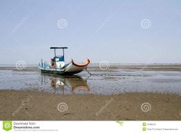 Fishing Boat On The Sand Seashore Royalty Free Stock PhotoImage 1146