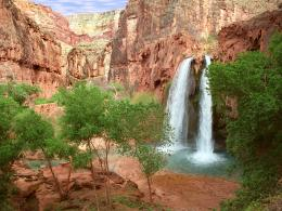 Falls Grand Canyon Arizonanature wallpaper featuring waterfalls 993