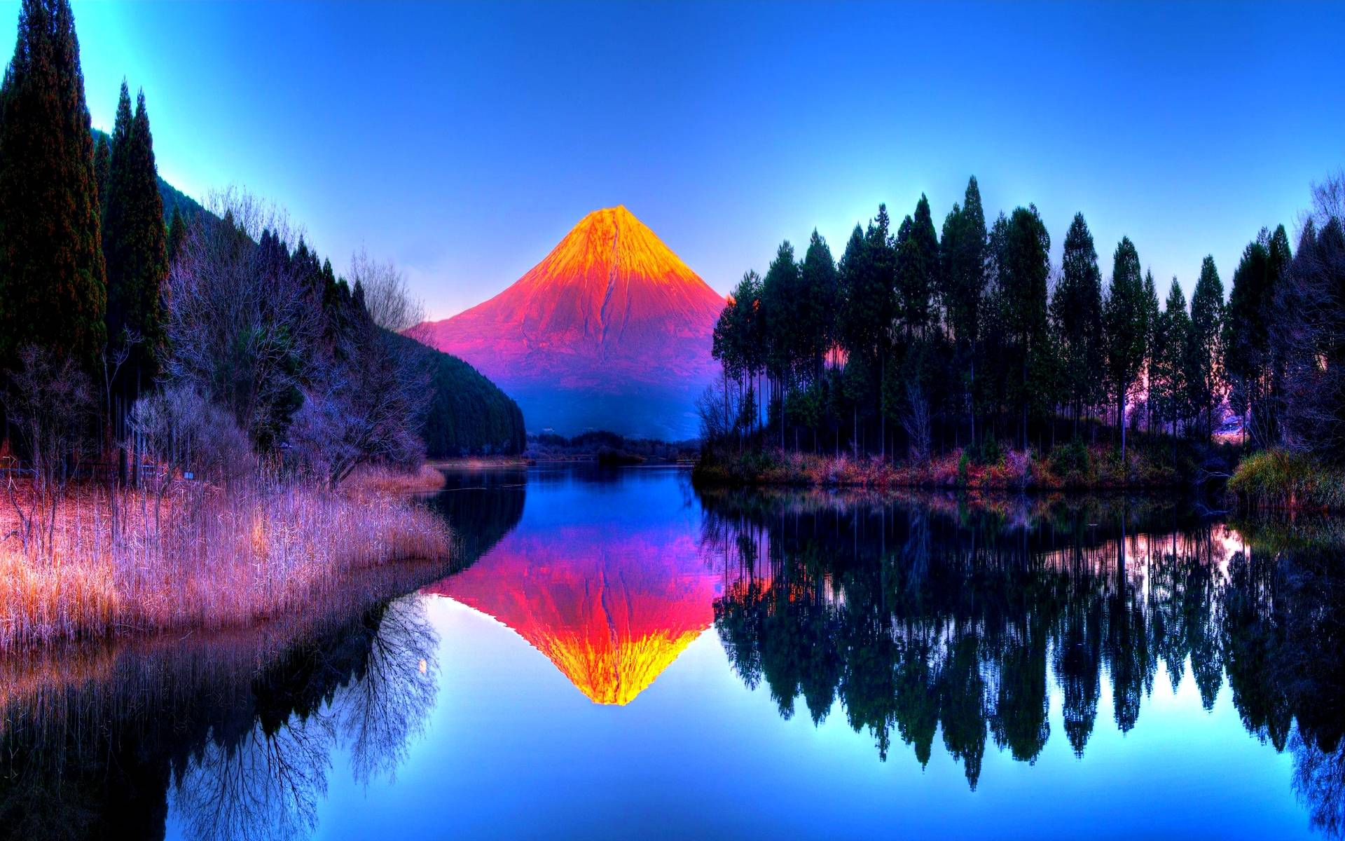 14 colorful landscape reflection wallpaper hdfree android